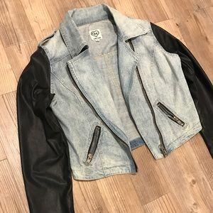 Carmar leather and denim jacket